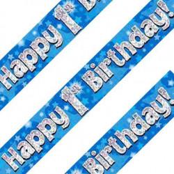 Blue 1st Birthday Banner